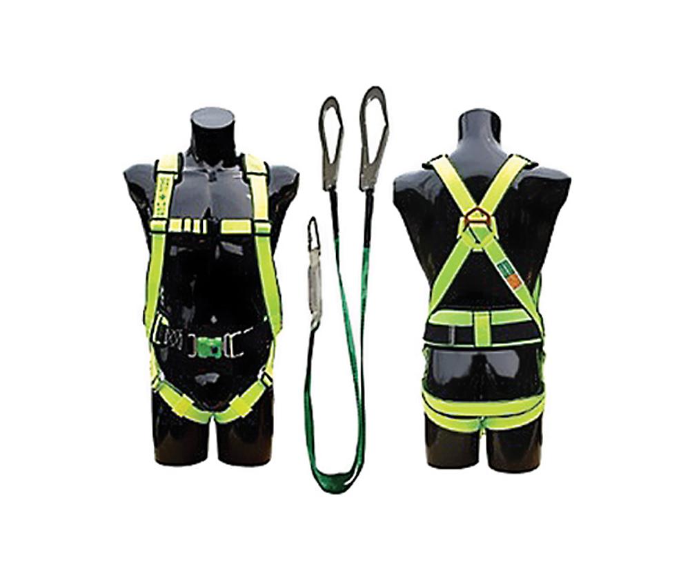 Nhà sản xuất: KUKJE  Nước sản xuất:Hàn Quốc  Tiêu chuẩn:CE EN361, ANSI Z87.1  Chất liệu dây:Sợi dù tổng hợp  Chất liệu móc:Thép mạ Niken  Màu sắc:Xanh nước biển  Chịu lực:2000 kg  Loại: Dây toàn thân
