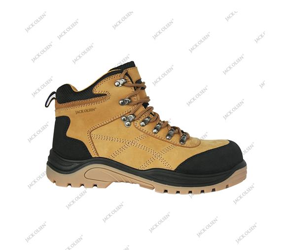 Xuât xứ Jack Olsen (CH Pháp) Sản xuất Jack Olsen Size EU 36-48 / UK 3.5-14 Trọng lượng 1050g/size 41 Tiêu chuẩn  EN ISO 20345:2011- S3 SRC Lưu ý khi sử dụng Không dùng nhiệt độ cao để làm khô giày. Khi giày bị ướt có thể làm khô bằng cách vò chặt giấy báo rồi nhét vào bên trong giày, phơi giày trong bóng râm. Miếng lót E.V.A có thể tháo rời để vệ sinh.