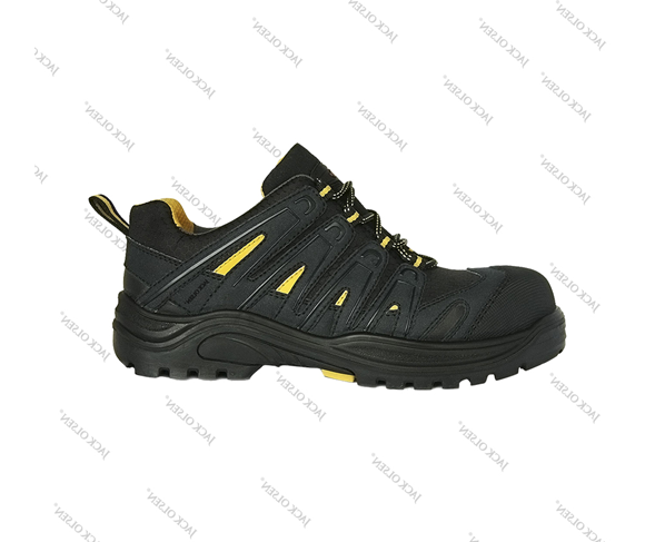 Xuât xứ Jack Olsen (CH Pháp) Sản xuất Jack Olsen Size EU 36-48 / UK 3.5-14 Trọng lượng 1100g/size 41 Tiêu chuẩn  EN ISO 20345:2011- S3 SRC Lưu ý khi sử dụng  Không dùng nhiệt độ cao để làm khô giày. Khi giày bị ướt có thể làm khô bằng cách vò chặt giấy báo rồi nhét vào bên trong giày, phơi giày trong bóng râm. Miếng lót E.V.A có thể tháo rời để vệ sinh.